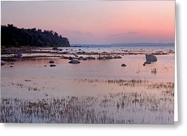 Old House Photographs Greeting Cards - Old Mission Point Lighthouse Panorama Greeting Card by Twenty Two North Photography