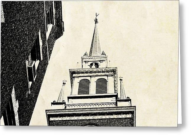 Old North Church in Boston Greeting Card by Elena Elisseeva