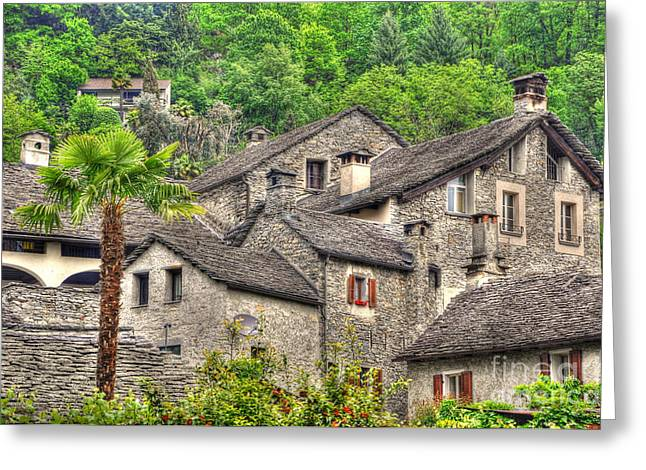 Antic Greeting Cards - Old rustic village Greeting Card by Mats Silvan