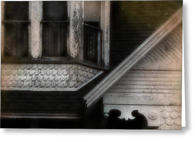 Old Victorian House Detail Greeting Card by Jill Battaglia