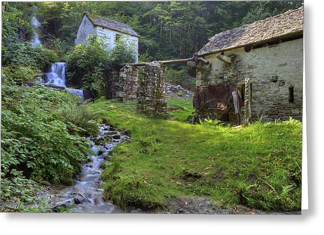 old watermill Greeting Card by Joana Kruse