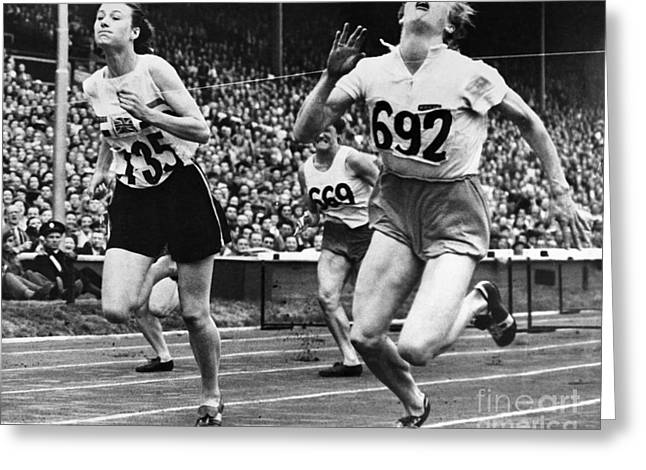 Footrace Greeting Cards - Olympic Games, 1948 Greeting Card by Granger