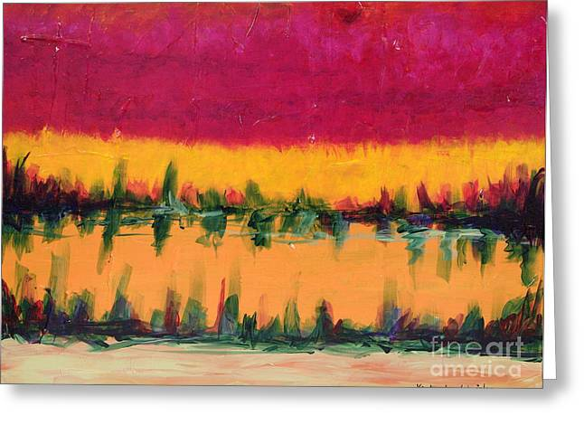 On Golden Pond Greeting Card by Kimberlee Weisker