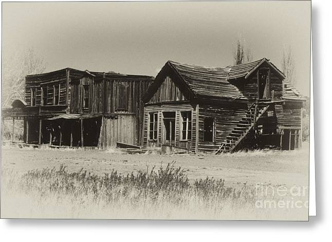 Dilapidated Greeting Cards - Once Upon A Time Greeting Card by Sandra Bronstein
