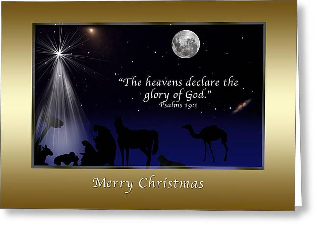 One Night Under Heaven Greeting Card by Delores Knowles