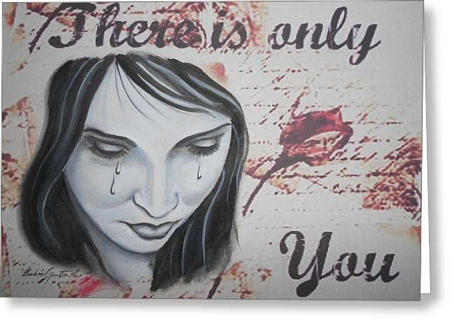 Only You Greeting Card by Barbie Guitard