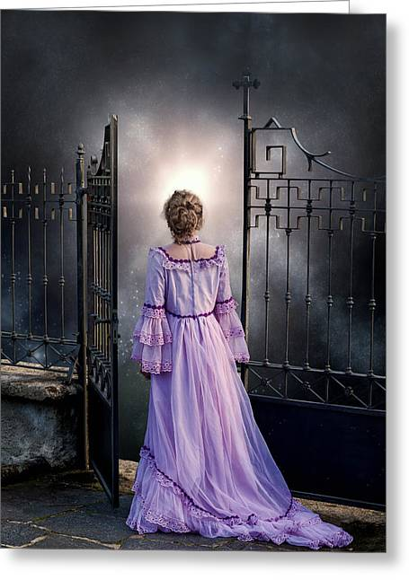 Ghostly Photographs Greeting Cards - Open Gate Greeting Card by Joana Kruse
