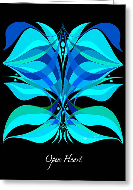 Survivor Art Greeting Cards - Open Heart Greeting Card by Angela Treat Lyon