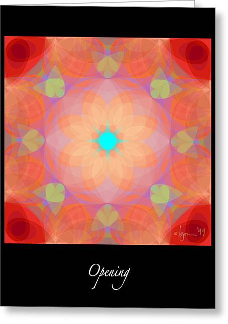 Survivor Art Greeting Cards - Opening Greeting Card by Angela Treat Lyon