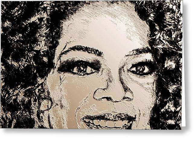 Oprah Winfrey in 2007 Greeting Card by J McCombie