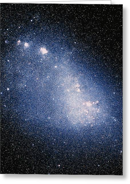 Small Magellanic Cloud Greeting Cards - Optical Image Of The Small Magellanic Cloud Greeting Card by Celestial Image Co.
