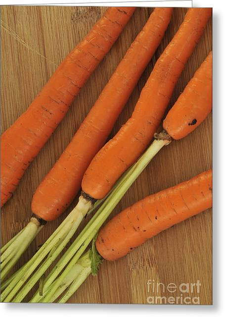 Orange Carrots Greeting Card by Timothy OLeary