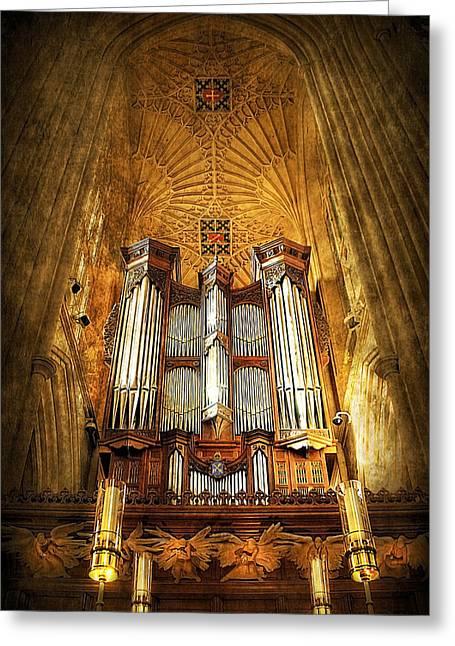 Soaring Tower Greeting Cards - Organ Greeting Card by Svetlana Sewell
