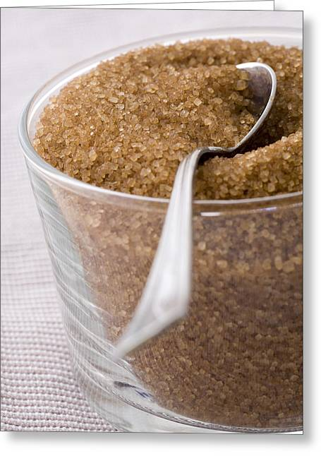 Organic Raw Cane Sugar Greeting Card by Frank Tschakert