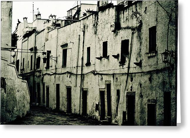 Dilapidated Houses Greeting Cards - Ostuni - Apulia Greeting Card by Joana Kruse