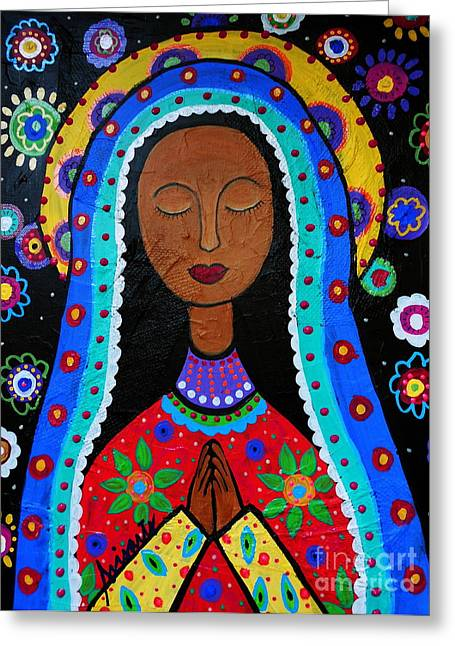 Our Lady Of Guadalupe Greeting Cards - Our Lady Of Guadalupe Greeting Card by Pristine Cartera Turkus