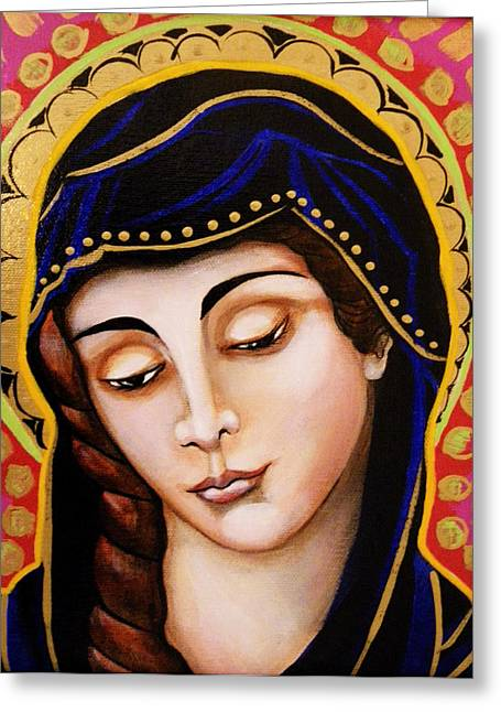 Lady Of Sorrow Greeting Cards - Our Lady of Sorrows Greeting Card by Christina Miller