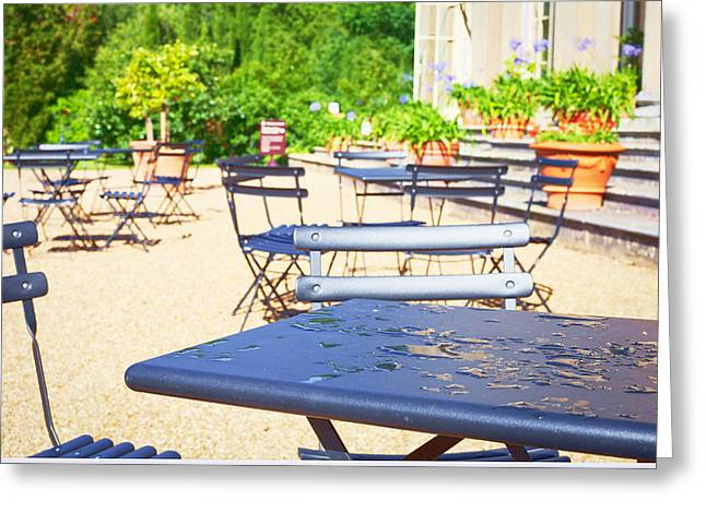 Fast Food Restaurant Greeting Cards - Outdoor cafe Greeting Card by Tom Gowanlock