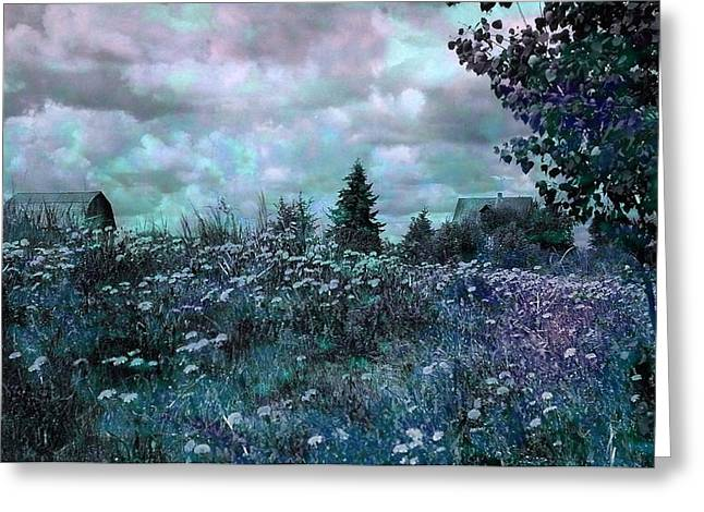Dark Blue Greeting Cards - Over in the Meadow 3 Greeting Card by Shirley Sirois