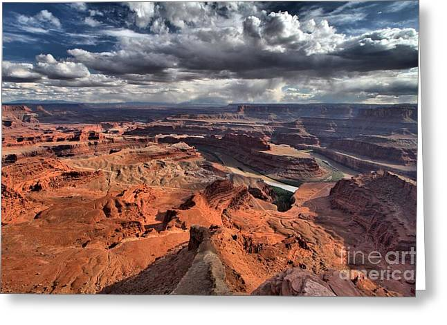 Dead Horse Point Greeting Cards - Over The Edge Greeting Card by Adam Jewell