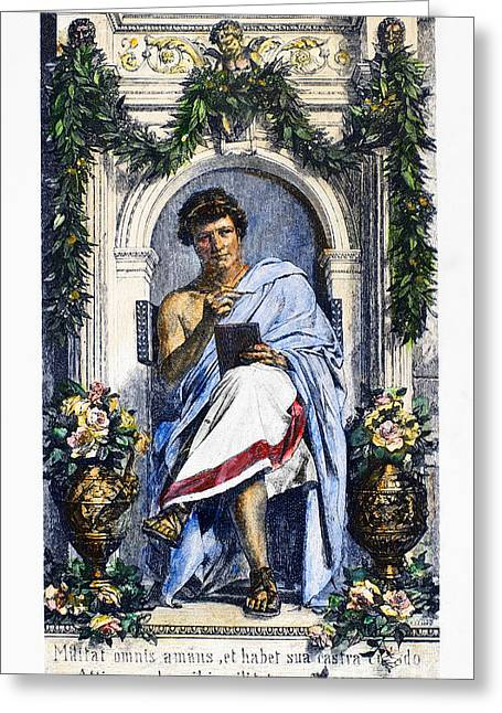 Roman Vase Greeting Cards - OVID (43 B.C.-c17 A.D.) Greeting Card by Granger