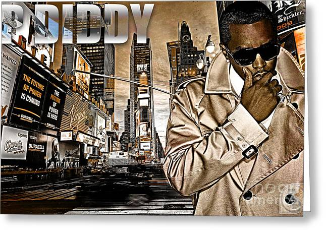 P Diddy Greeting Card by The DigArtisT