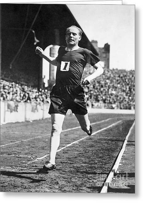 Footrace Greeting Cards - Paavo Nurmi (1897-1973) Greeting Card by Granger