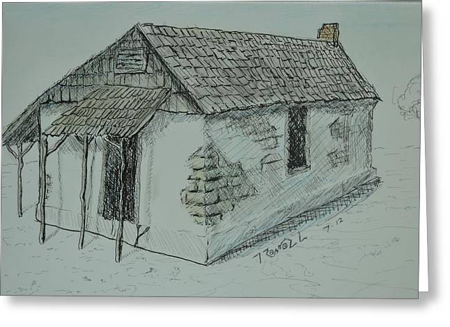 Adobe Mixed Media Greeting Cards - Pacheco Adobe Greeting Card by Bob Rowell