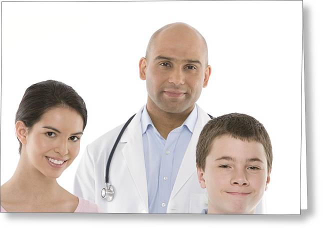 12-13 Years Greeting Cards - Paediatric Doctor Greeting Card by