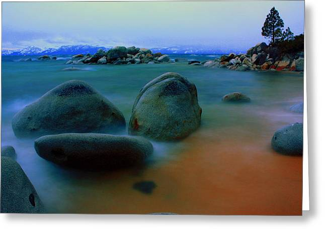 Blured Greeting Cards - Painted Tahoe Greeting Card by David Frissyn