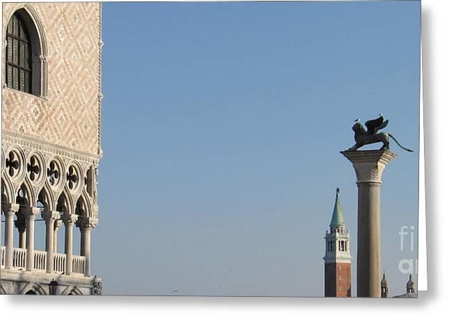 Palace Ducal. Venice Greeting Card by Bernard Jaubert