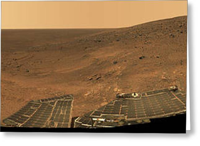 21st Greeting Cards - Panorama From Columbia Hills, Mars Greeting Card by NASA/Science Source