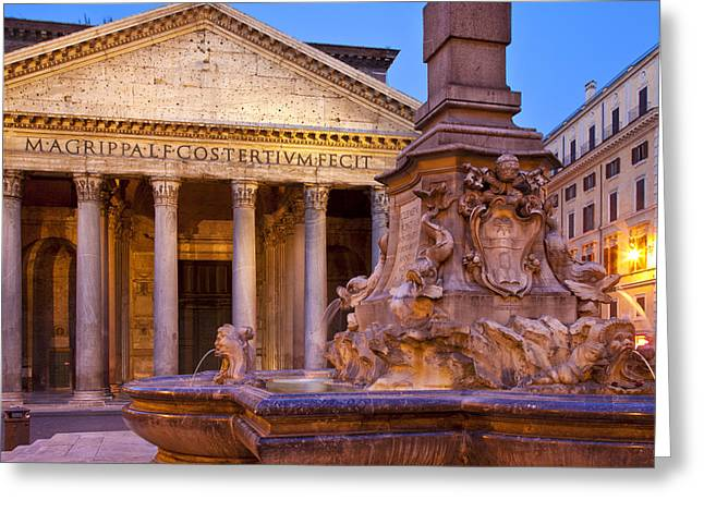 City Lights Greeting Cards - Pantheon Greeting Card by Brian Jannsen