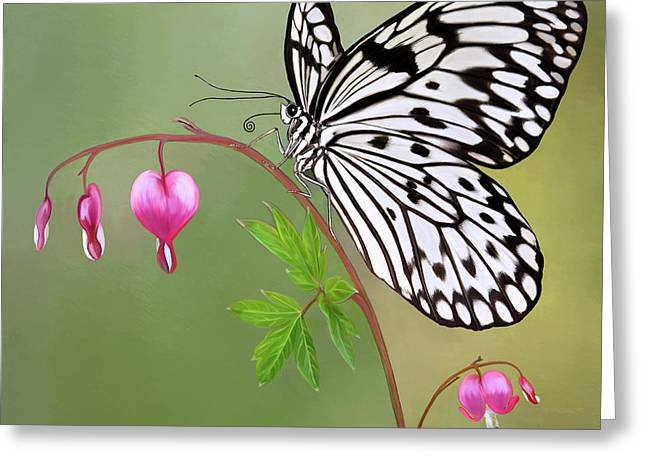 Kites Digital Art Greeting Cards - Paper Kite Butterfly Greeting Card by Thanh Thuy Nguyen