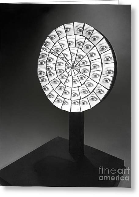 Image Repeat Greeting Cards - Parabolic Mirror Greeting Card by Berenice Abbott