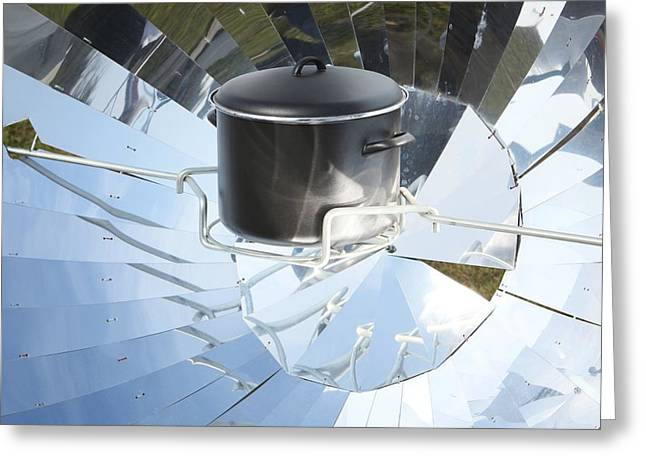 Non-polluting Greeting Cards - Parabolic Solar Cooker Greeting Card by Detlev Van Ravenswaay