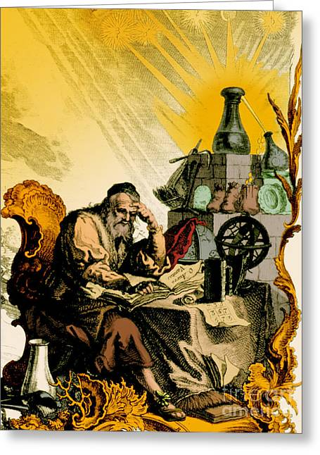 1493 Greeting Cards - Paracelsus, Swiss Polymath Greeting Card by Science Source