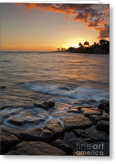 Koloa Greeting Cards - Paradise Sunset Greeting Card by Mike  Dawson