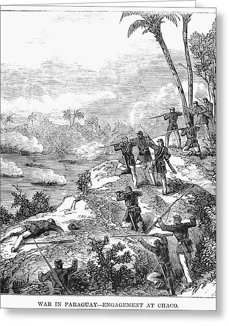 Bayonet Greeting Cards - Paraguayan War, 1868 Greeting Card by Granger