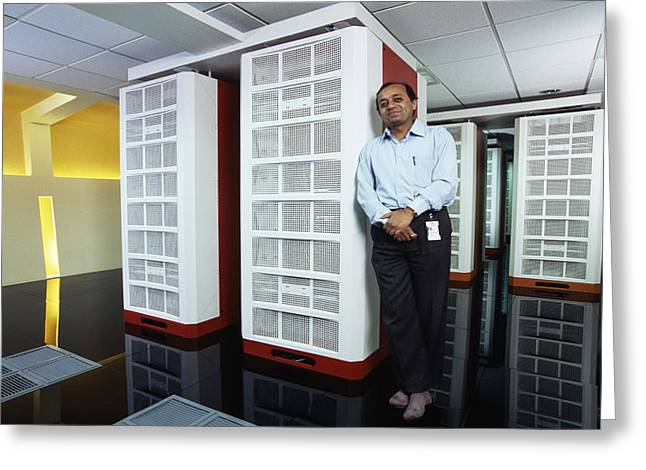 Param Padma Supercomputer Greeting Card by Volker Steger