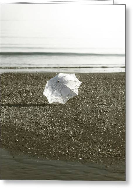 Umbrellas Photographs Greeting Cards - Parasol Greeting Card by Joana Kruse