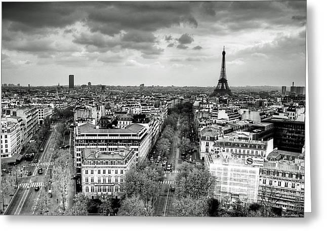 Eifel-tower Greeting Cards - Paris No. 1  Greeting Card by Ryan Wyckoff