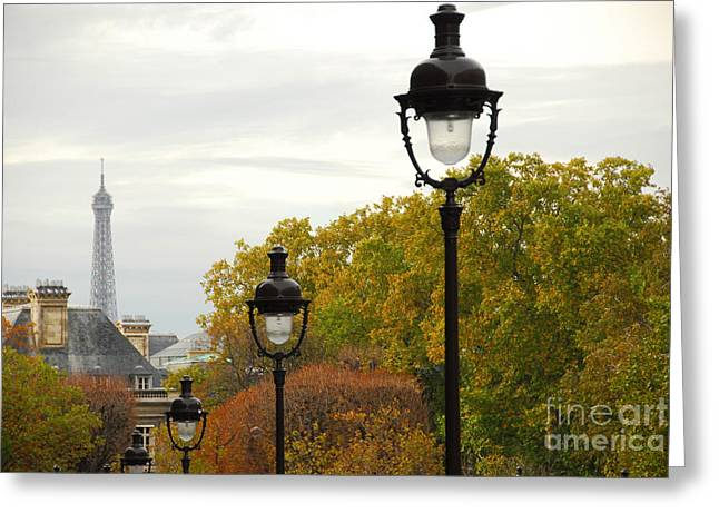 Buildings Greeting Cards - Paris street Greeting Card by Elena Elisseeva