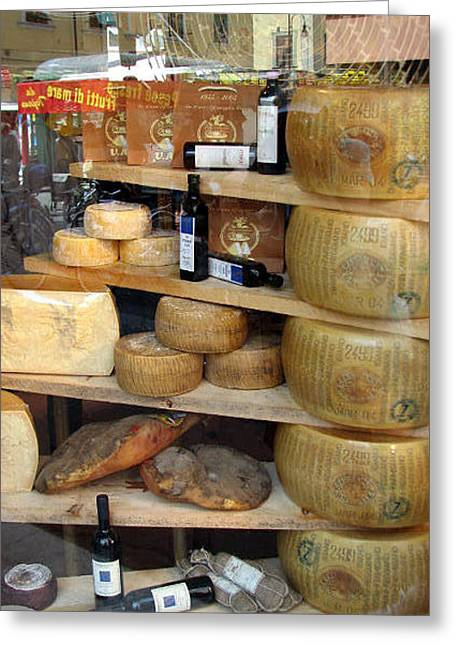 Grocery Store Greeting Cards - Parmesan Rounds Greeting Card by Carla Parris