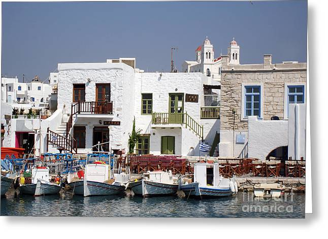 Mediterranean Landscape Greeting Cards - Paros  Greeting Card by Jane Rix