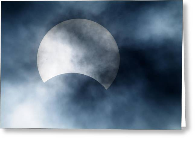 Solar Eclipse Greeting Cards - Partial Solar Eclipse, Germany, 29/03/06 Greeting Card by Detlev Van Ravenswaay