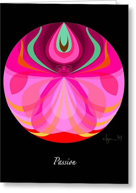Survivor Art Greeting Cards - Passion Greeting Card by Angela Treat Lyon
