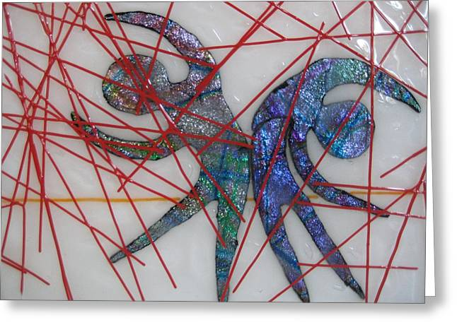 Dance Glass Art Greeting Cards - Passion Rain Greeting Card by Mark Lubich