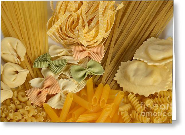 Assorted Greeting Cards - Pasta Greeting Card by Photo Researchers, Inc.