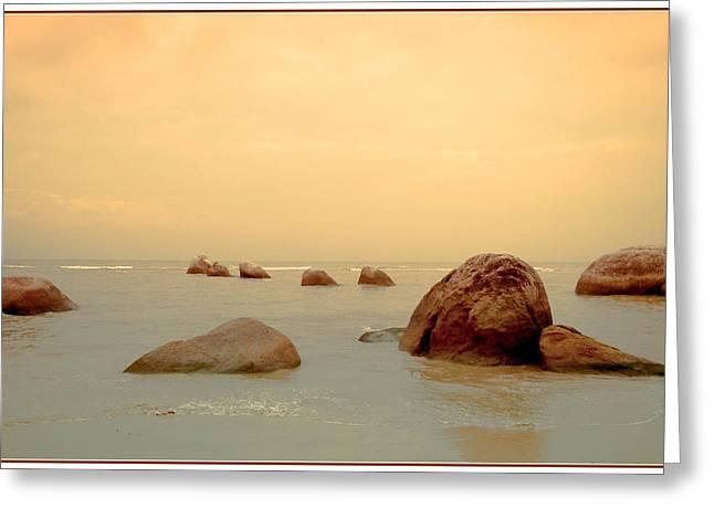 Pastel Rocks Greeting Card by Allan Rufus